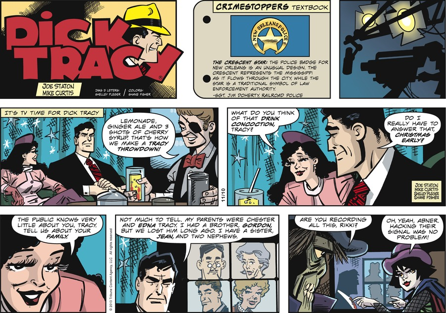 Dick Tracy Comic Strip for November 10, 2013