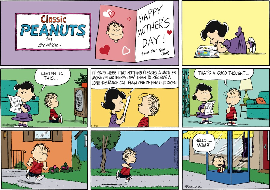 Peanuts Comic Strip for May 08, 2011