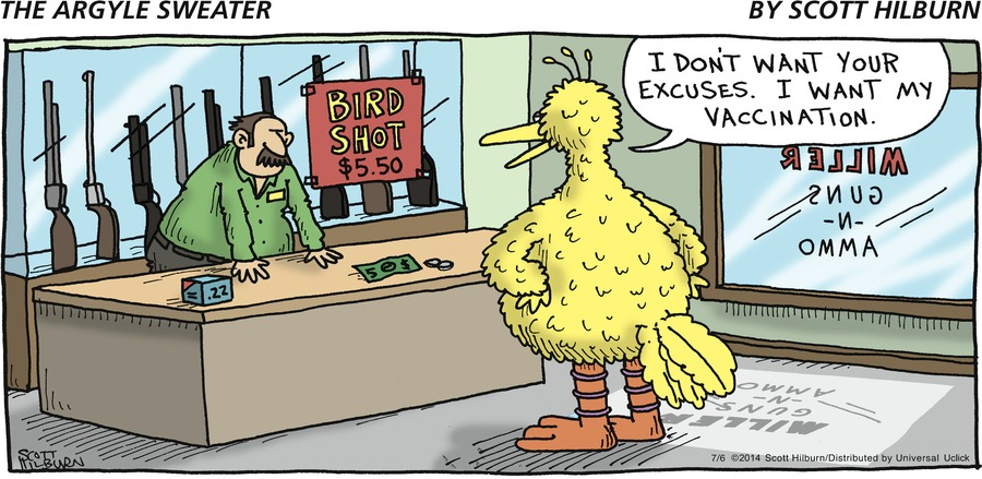Bird: I don't want your excuses. I want my vaccination.