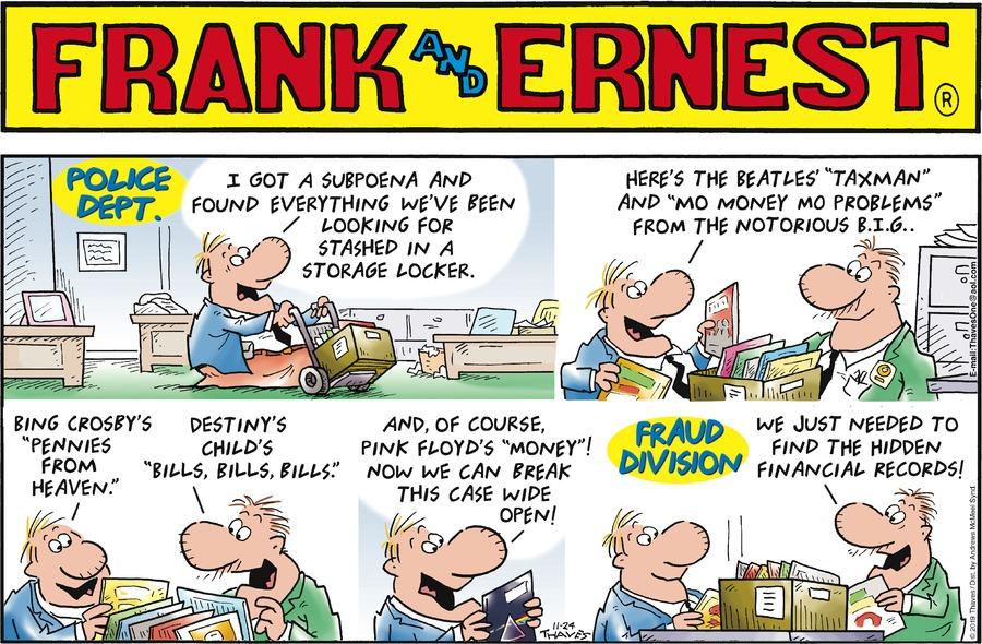 Frank and Ernest Comic Strip for November 24, 2019