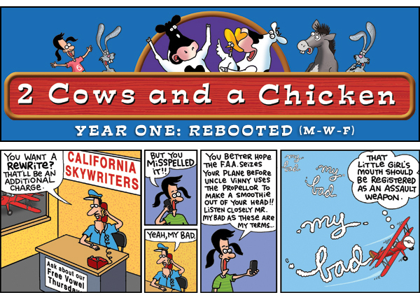 2 Cows and a Chicken for Jan 16, 2013 Comic Strip