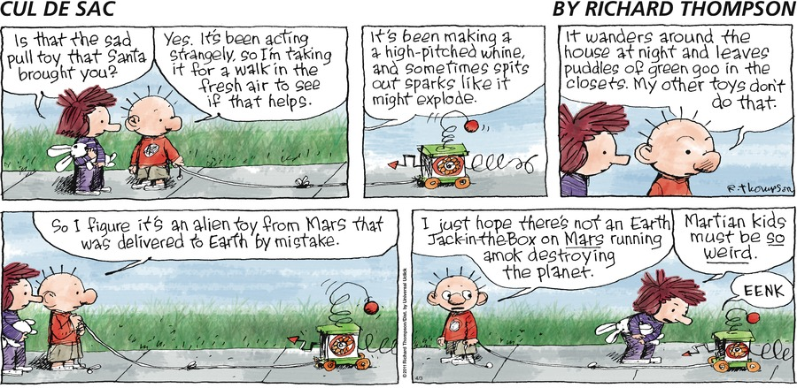 Cul de Sac Comic Strip for April 03, 2016