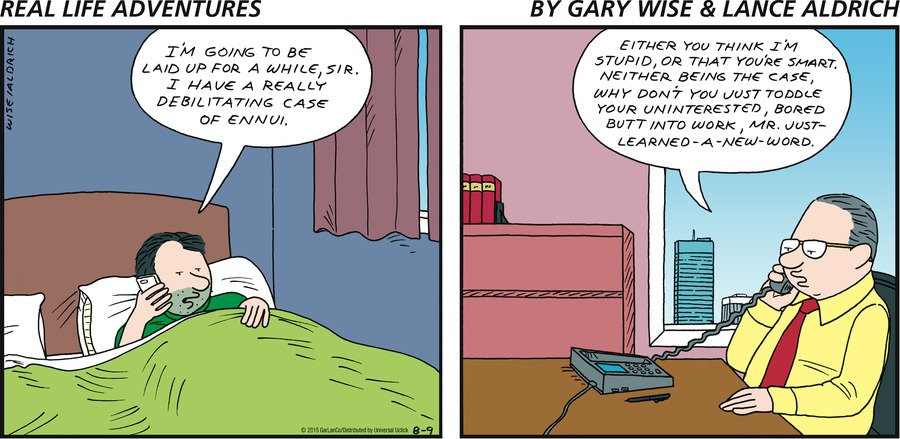 Real Life Adventures for Aug 9, 2015 Comic Strip