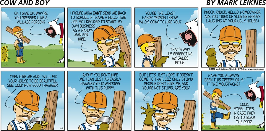 Cow and Boy Classics Comic Strip for August 31, 2008