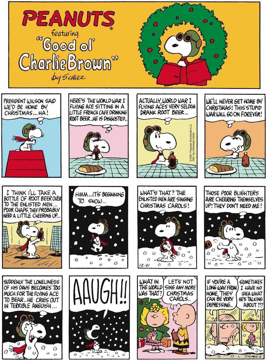 Peanuts Comic Strip for December 21, 2014
