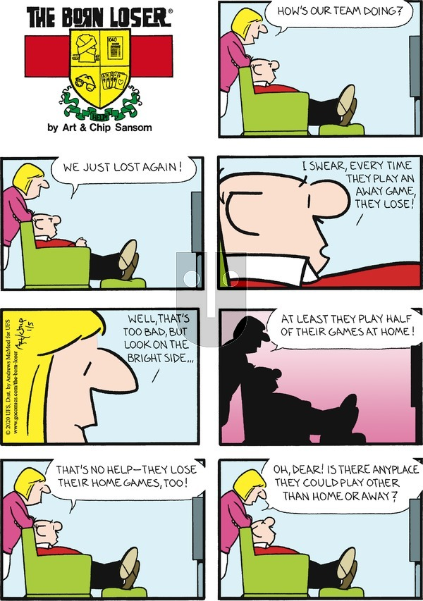 The Born Loser on Sunday January 5, 2020 Comic Strip