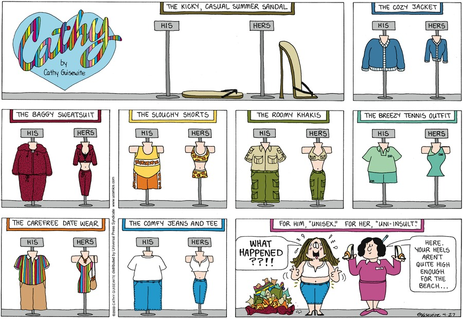 Cathy for Apr 27, 2014 Comic Strip