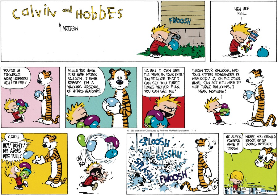 Calvin and Hobbes Comic Strip for July 14, 2019