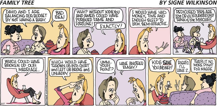 Family Tree Comic Strip for September 27, 2009