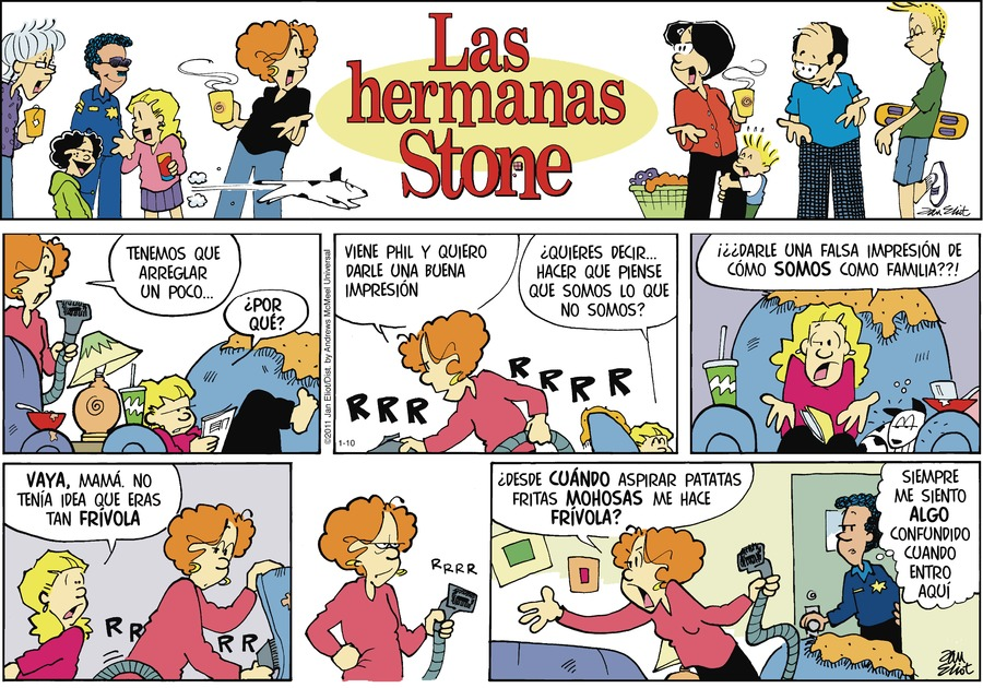 Las Hermanas Stone Comic Strip for January 10, 2021