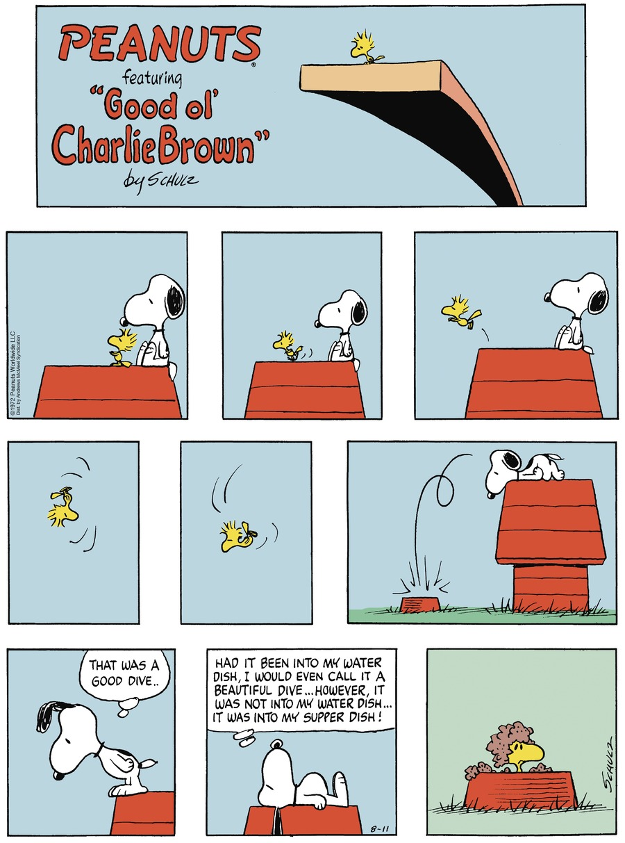Peanuts Comic Strip for August 11, 2019