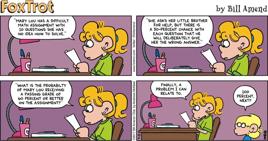 FoxTrot Comic Strip for April 23, 2017