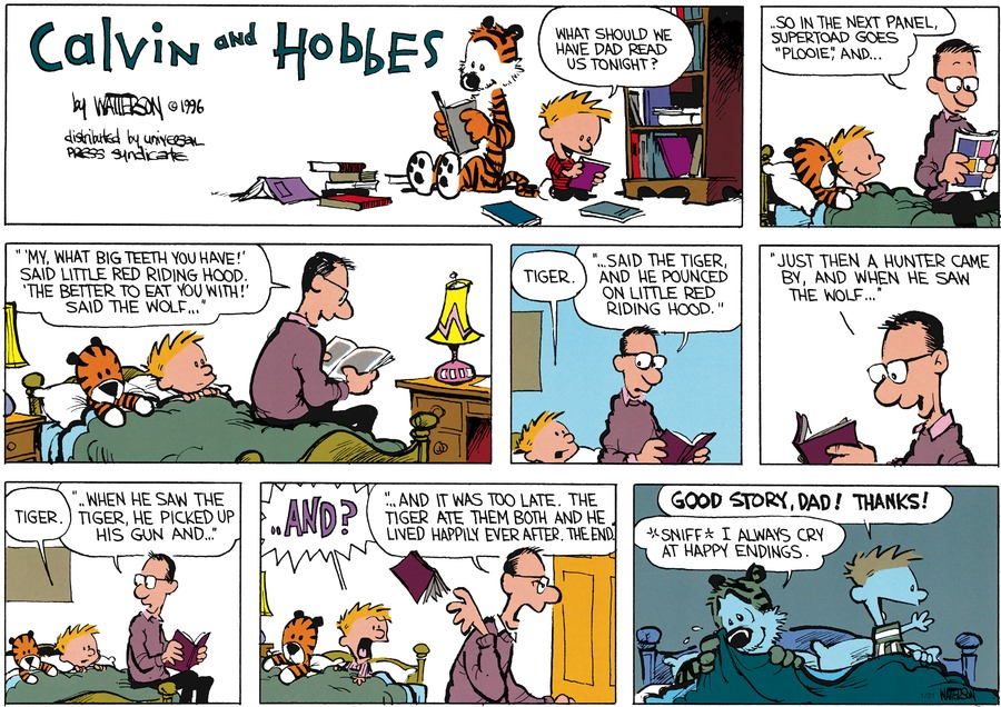 Calvin and Hobbes Comic Strip for January 31, 2016