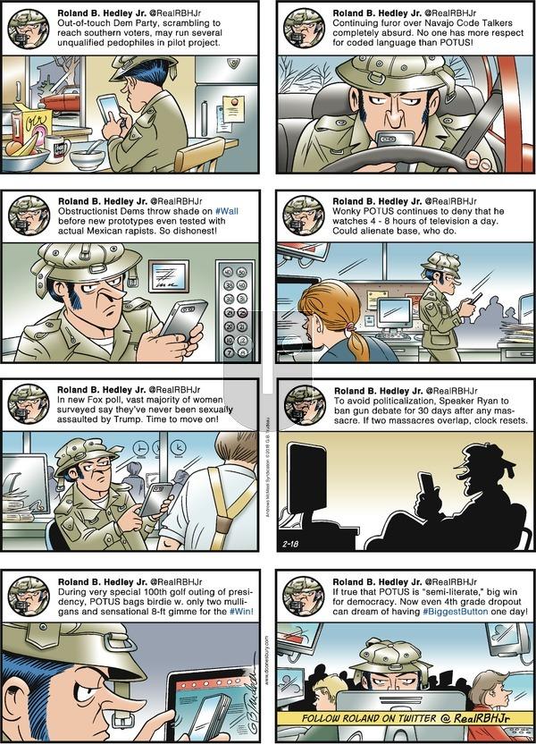 Doonesbury on Sunday February 18, 2018 Comic Strip