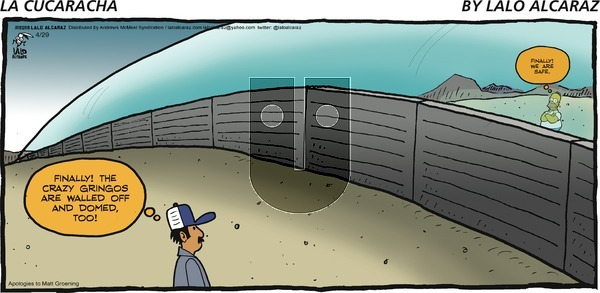 La Cucaracha - Sunday April 29, 2018 Comic Strip