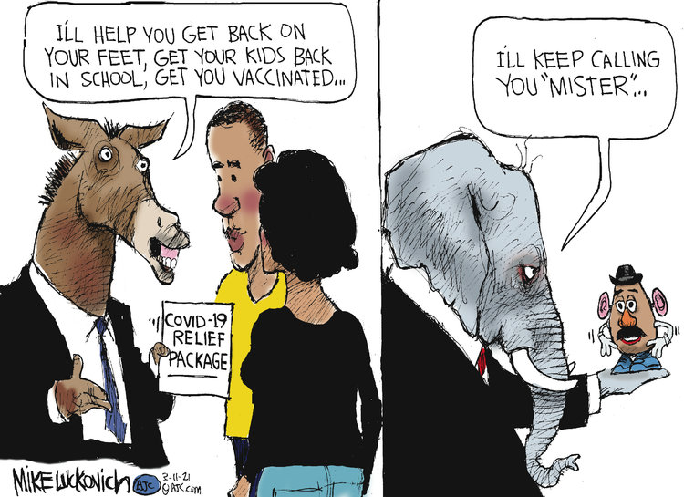 Mike Luckovich Comic Strip for March 11, 2021
