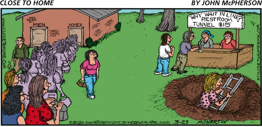 Close to Home Comic Strip for March 29, 2020