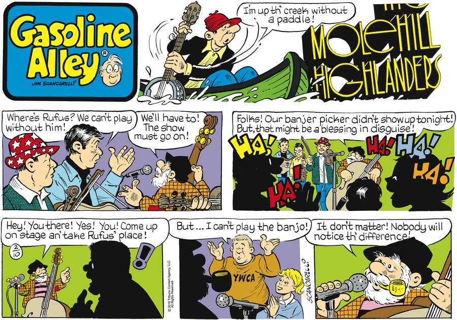 Gasoline Alley Comic Strip for February 10, 2019