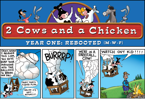 2 Cows and a Chicken for Sep 30, 2013 Comic Strip