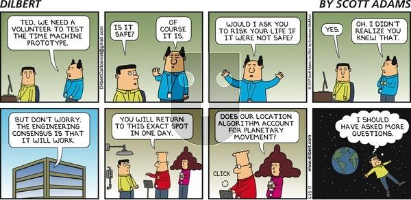 Dilbert on Sunday June 25, 2017 Comic Strip