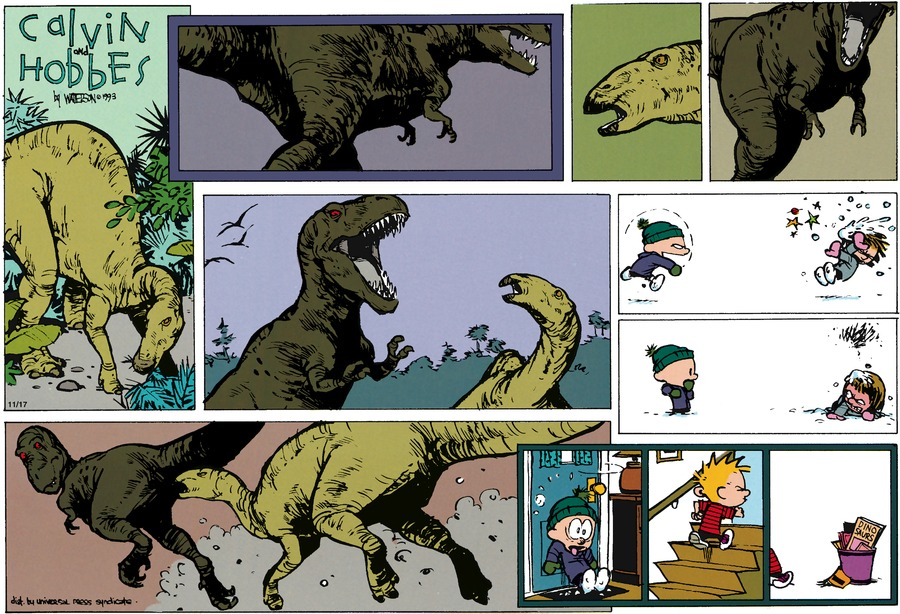 Calvin and Hobbes Comic Strip for January 24, 1993
