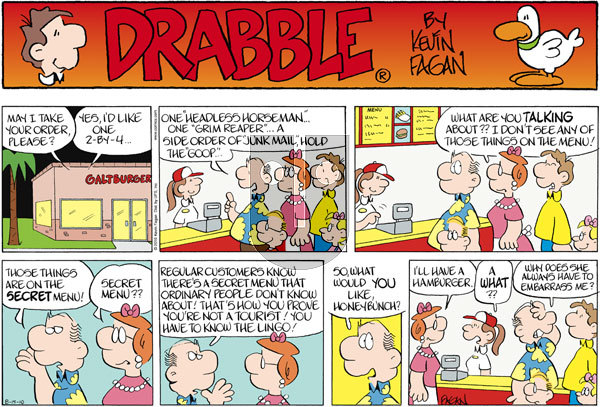 Drabble on Sunday August 15, 2010 Comic Strip