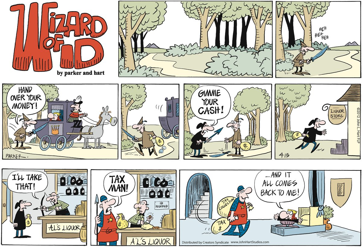 Wizard of Id Comic Strip for April 15, 2012