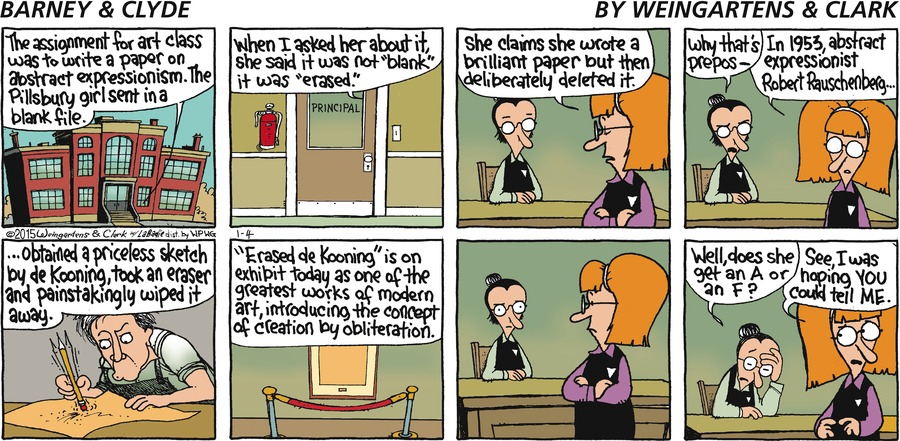 Barney & Clyde Comic Strip for January 04, 2015