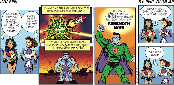 Ink Pen Comic Strip for February 13, 2011
