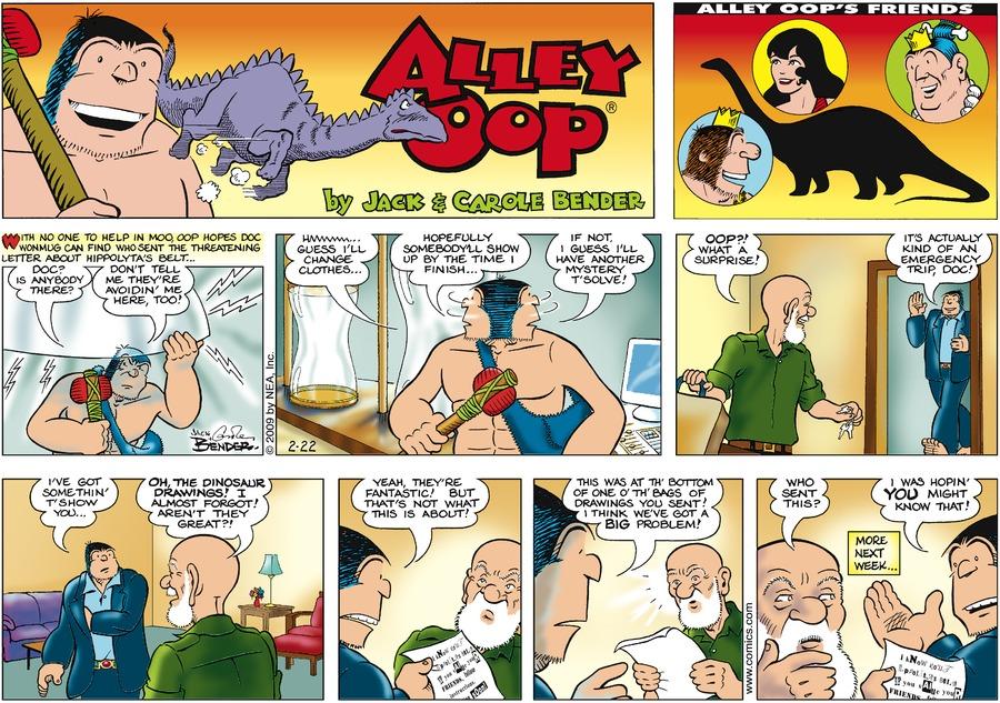 Alley Oop for Feb 22, 2009 Comic Strip