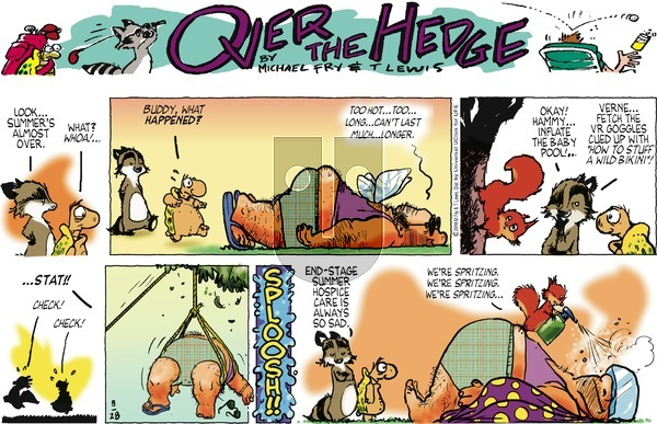 Over the Hedge on Sunday August 28, 2016 Comic Strip