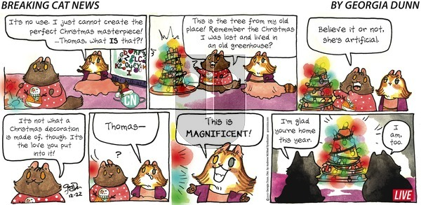 Breaking Cat News on Sunday December 22, 2019 Comic Strip