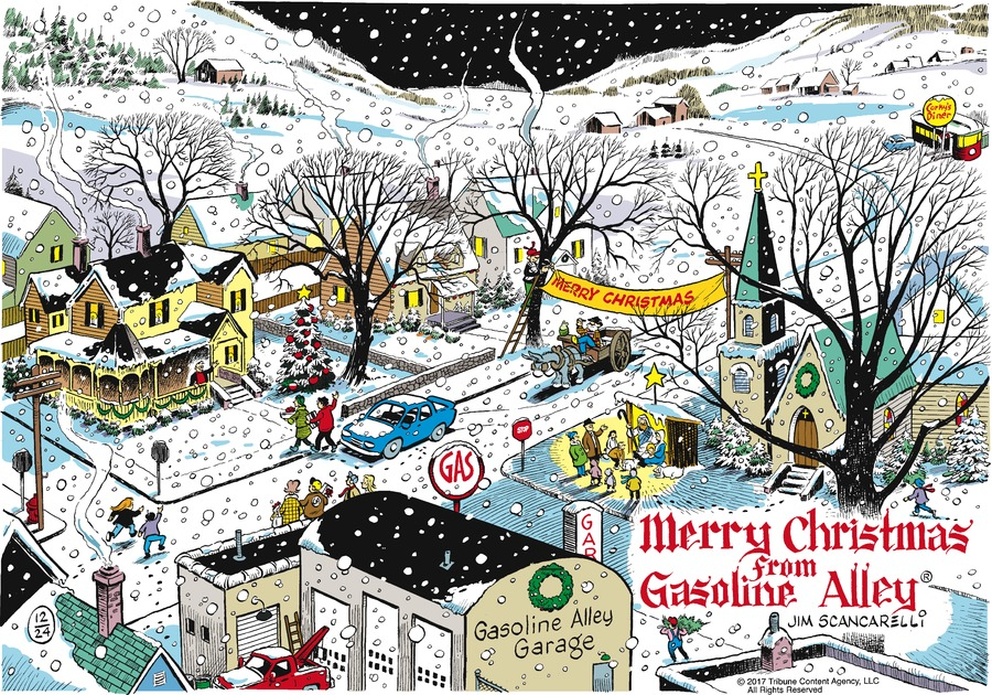 Gasoline Alley Comic Strip for December 24, 2017
