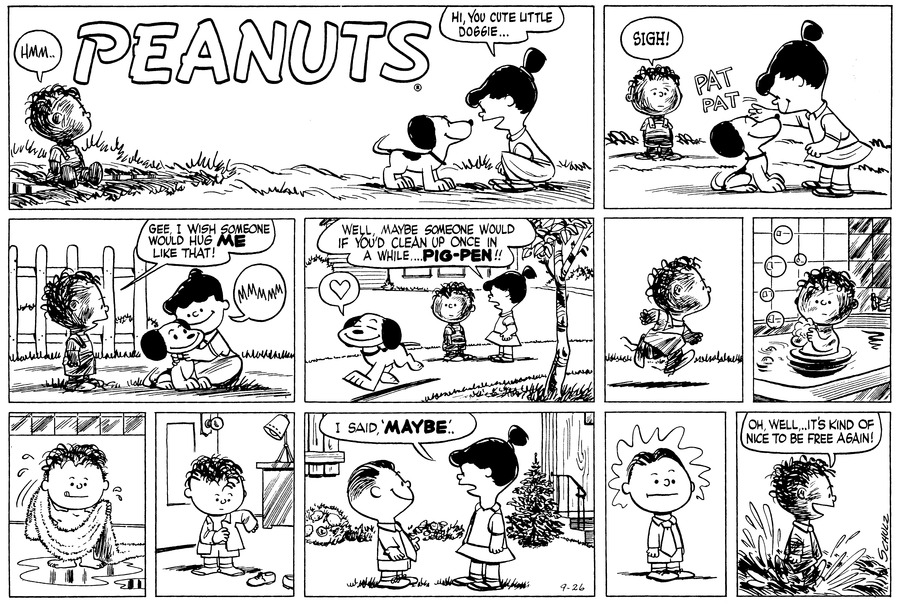 Peanuts Comic Strip for September 26, 1954