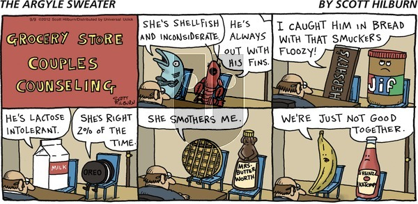 The Argyle Sweater on Sunday September 9, 2012 Comic Strip