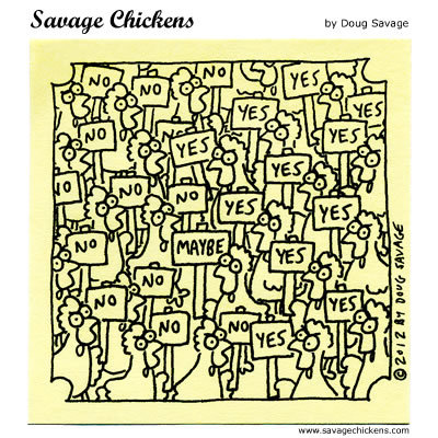 Savage Chickens Comic Strip for September 30, 2016