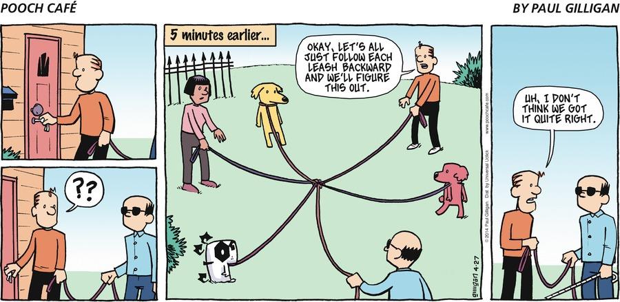 Pooch Cafe Comic Strip for April 27, 2014