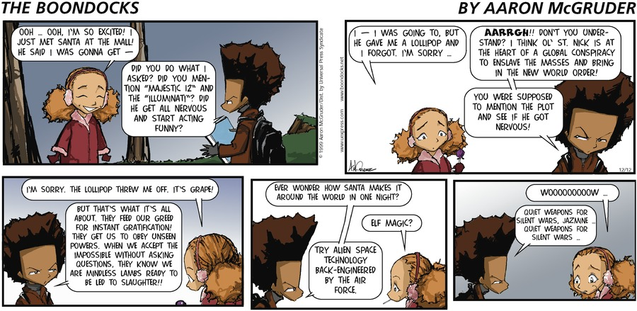 The Boondocks for Dec 12, 1999 Comic Strip