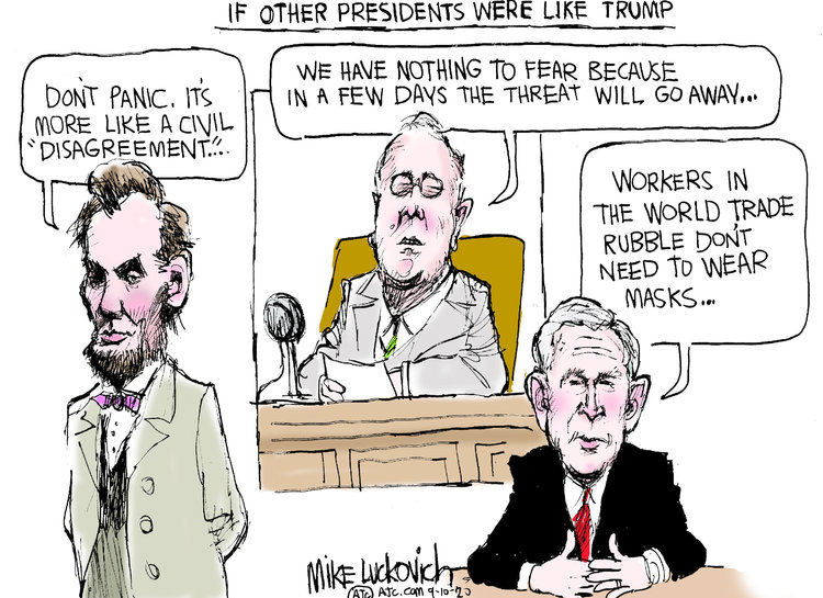 Mike Luckovich Comic Strip for September 10, 2020