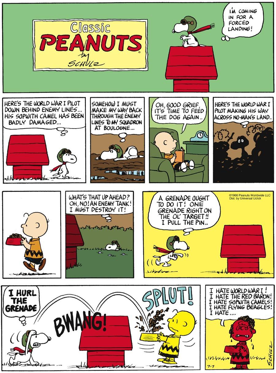 Peanuts Comic Strip for July 07, 2013
