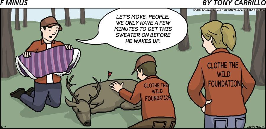 F Minus for Jan 13, 2013 Comic Strip