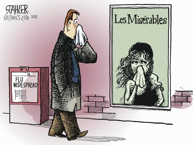 Flu widespread  Les Misérables