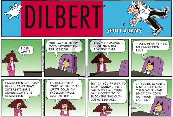 Dilbert - Sunday October 20, 2002 Comic Strip
