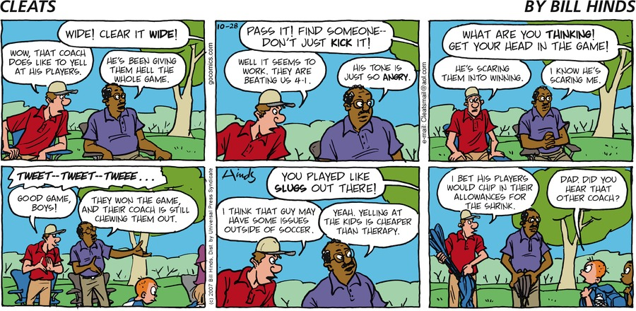 Cleats Comic Strip for October 28, 2007