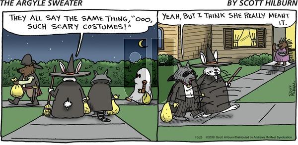 The Argyle Sweater - Sunday October 25, 2020 Comic Strip