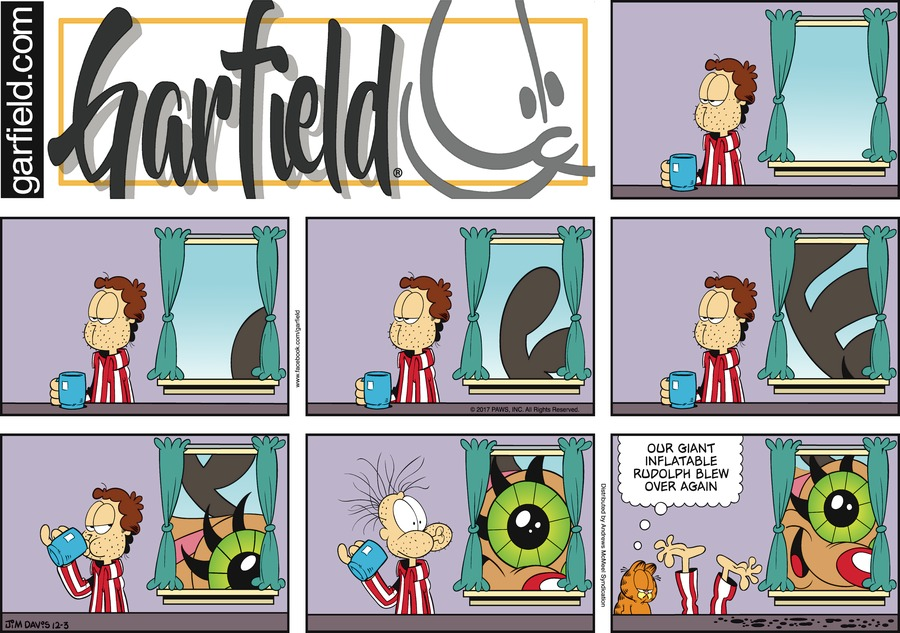 Garfield for Dec 3, 2017 Comic Strip