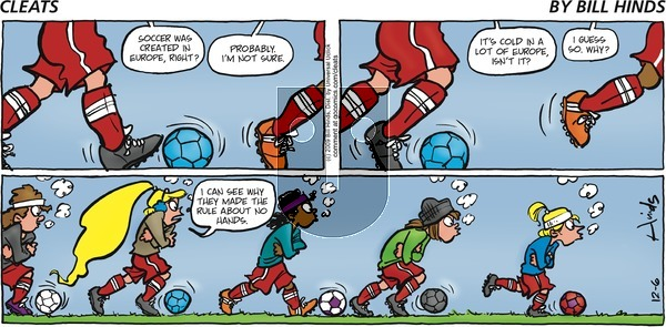 Cleats on December 6, 2009 Comic Strip
