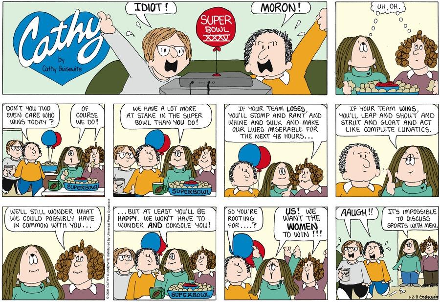 Cathy for Jan 28, 2001 Comic Strip