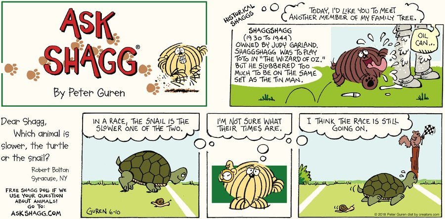 Ask Shagg Comic Strip for June 10, 2018