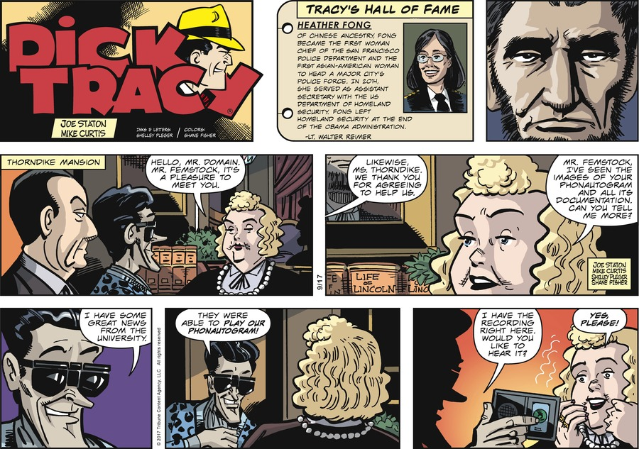 Dick Tracy Comic Strip for September 17, 2017